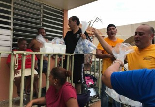 Scientology Volunteer Ministers are helping in Puerto Rico delivering basic necessities.