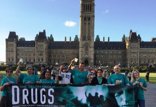 Volunteers from the Church of Scientology Ottawa promote drug education as a necessary part of Canada's drug prevention strategy.