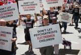 Protesters against use of ECT on children at APA Convention in Atlanta