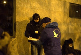 Volunteers interviewed refugees on the situations they have been running into and informed them of services available to them and their families.